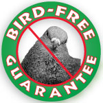 Since 1997 Azwns Bird Free Guarantee Logo.
