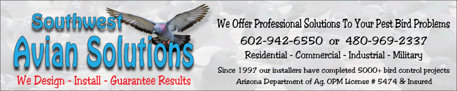 Southwest avian solutions bird control banner